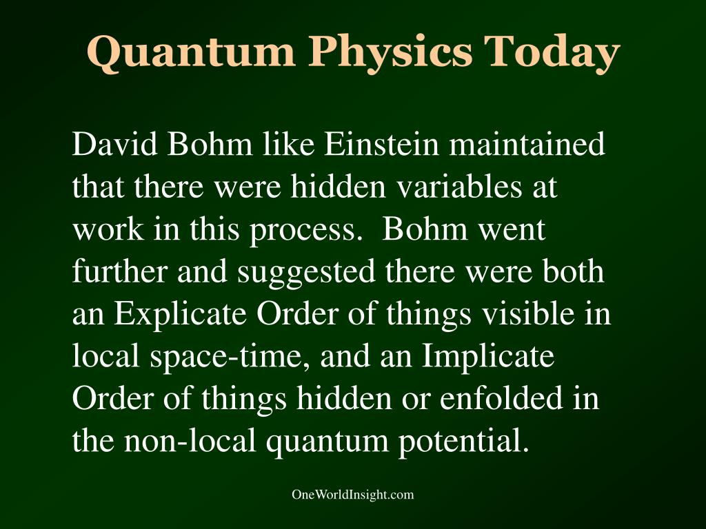 Quantum Physics Today