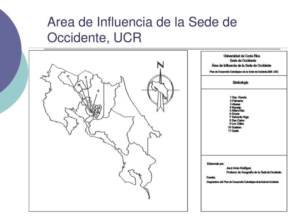 Area de Influencia de la Sede de Occidente, UCR