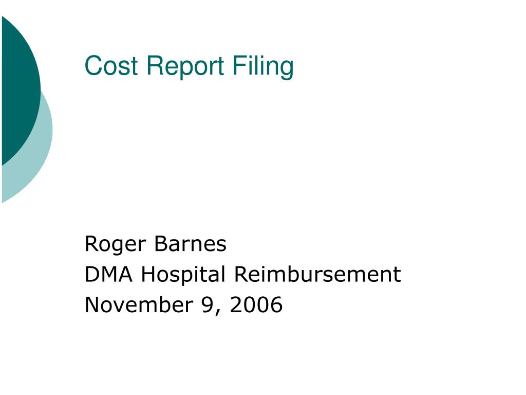Cost Report Filing