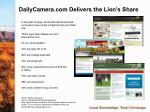 dailycamera com delivers the lion s share