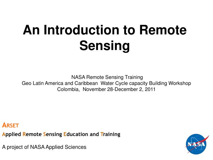 Application Of Remote Sensing In Oceanography Ppt