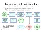 separation of sand from salt