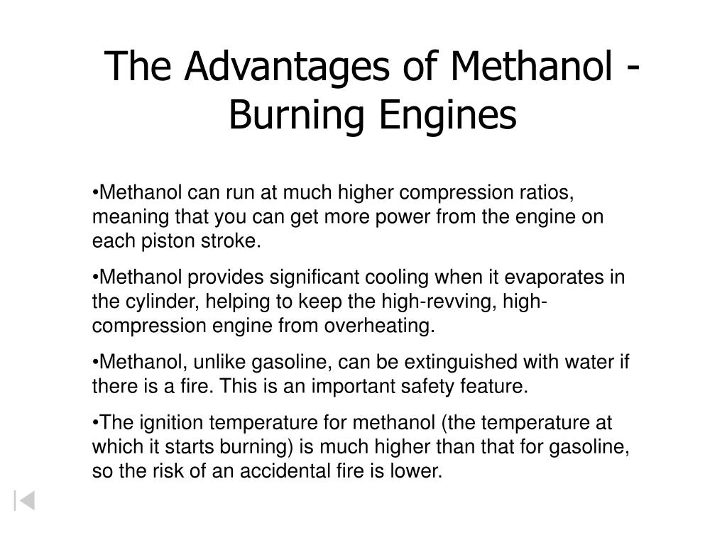 The Advantages of Methanol - Burning Engines