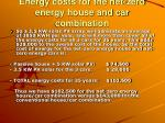 energy costs for the net zero energy house and car combination