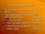 estimate for net zero15