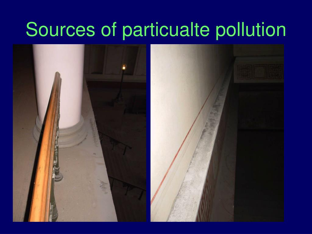 Sources of particualte pollution