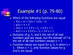 example 1 p 79 80