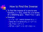 how to find the inverse1