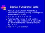 special functions cont1