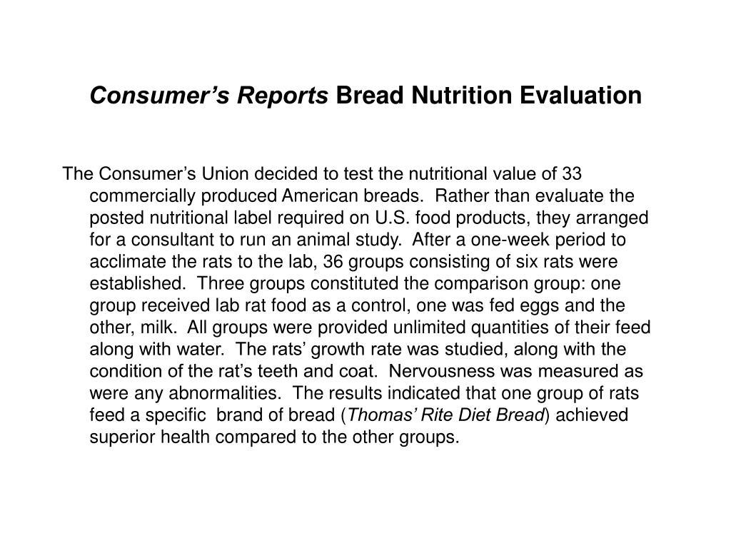 Consumer's Reports