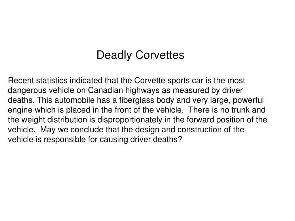 Deadly Corvettes