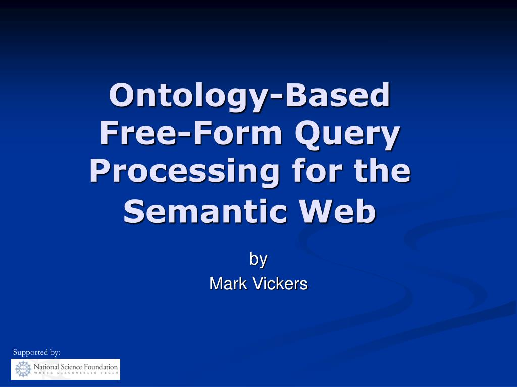 ontology based free form query processing for the semantic web l.