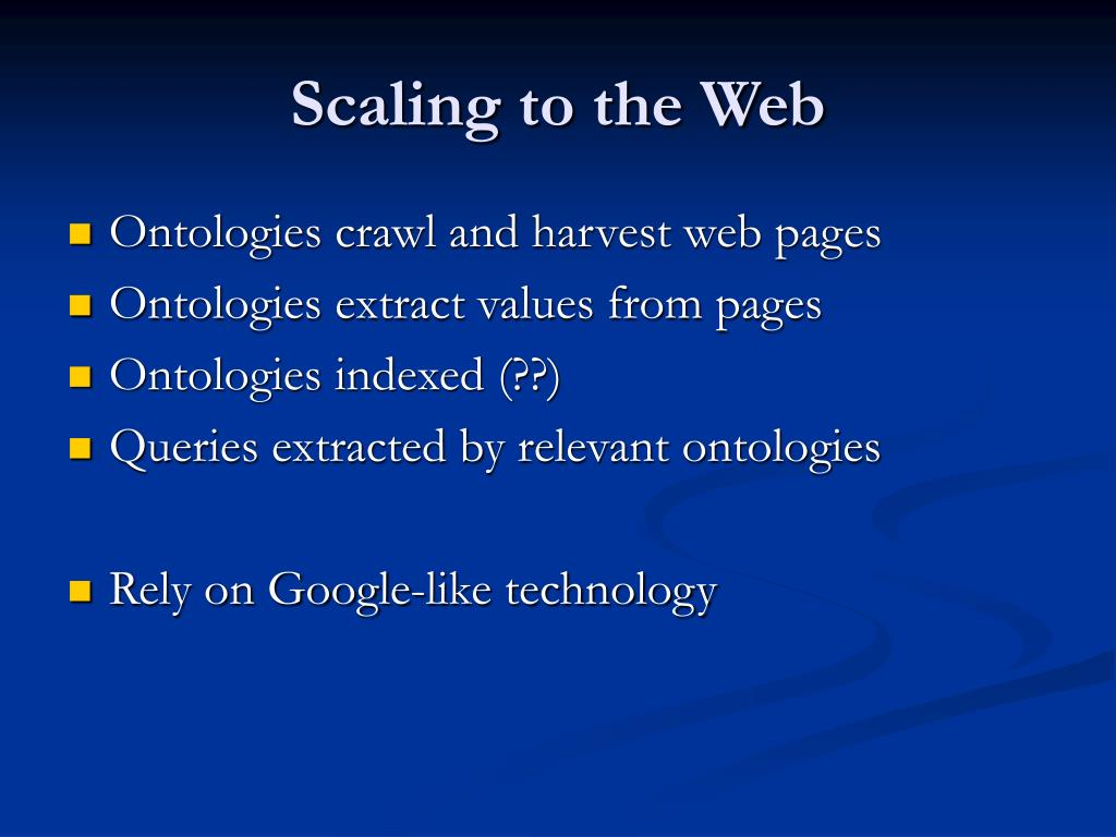 Scaling to the Web