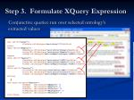 step 3 formulate xquery expression