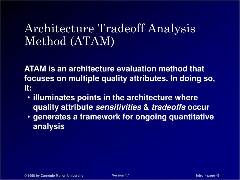 Architecture Tradeoff Analysis Method (ATAM)