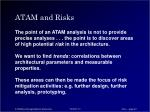 atam and risks