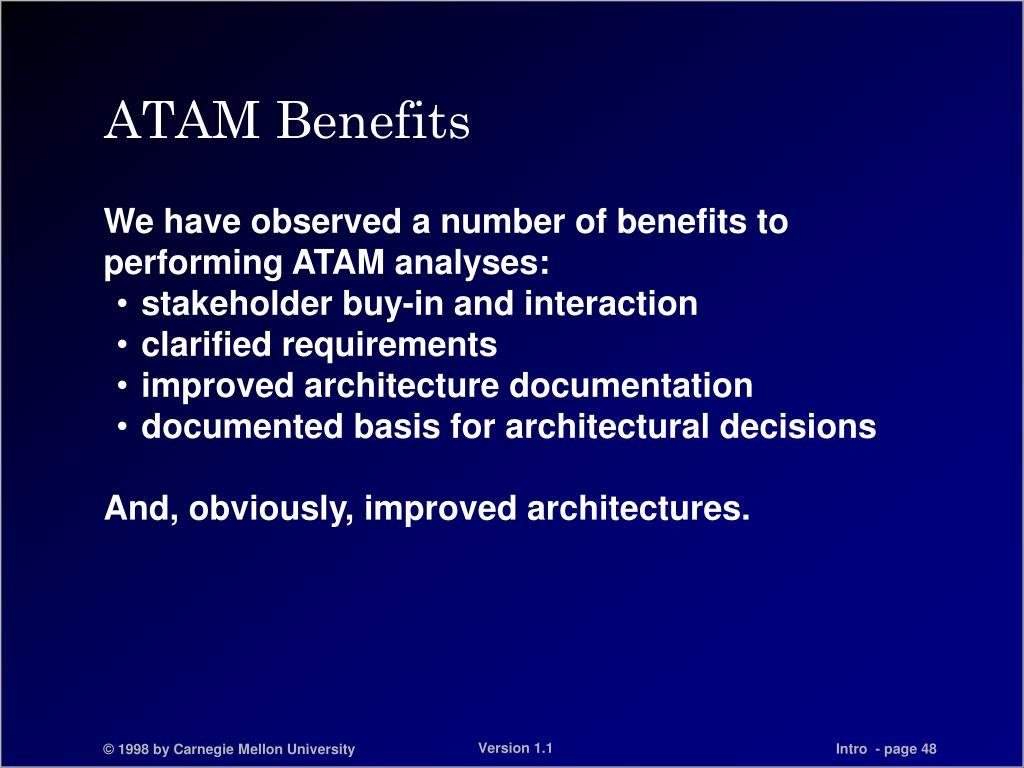 ATAM Benefits