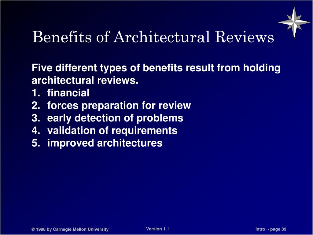 Benefits of Architectural Reviews