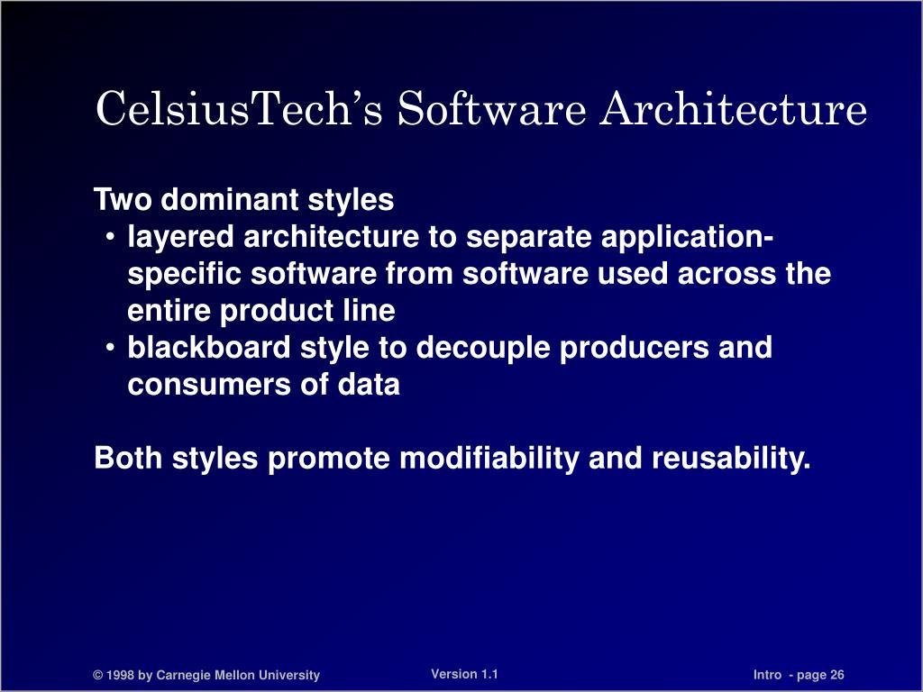 CelsiusTech's Software Architecture