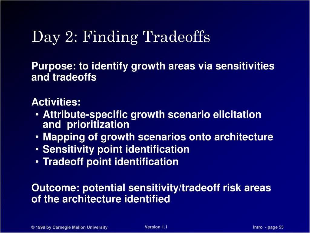 Day 2: Finding Tradeoffs