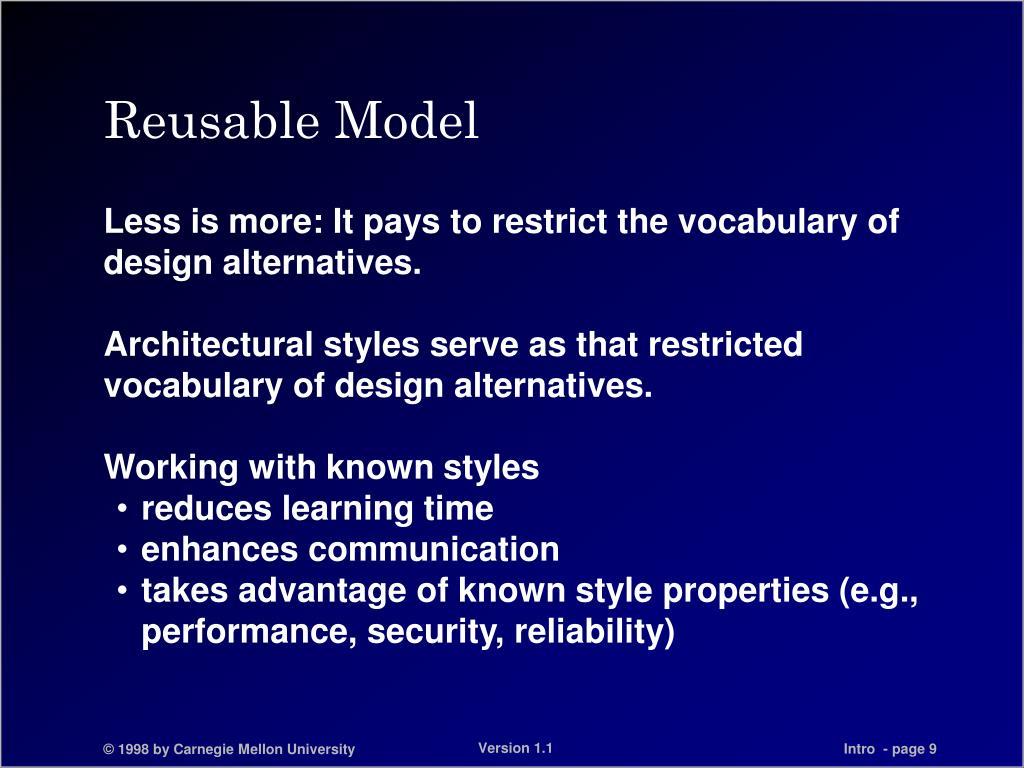 Reusable Model