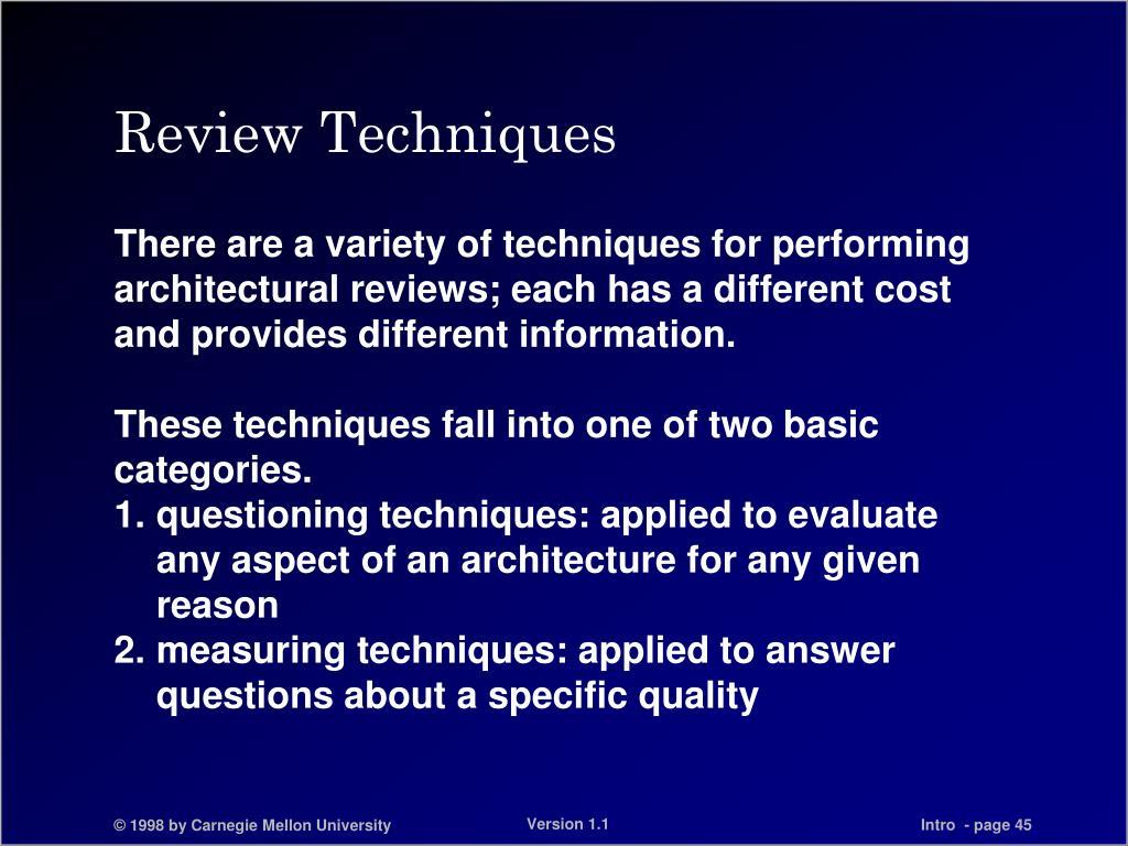 Review Techniques