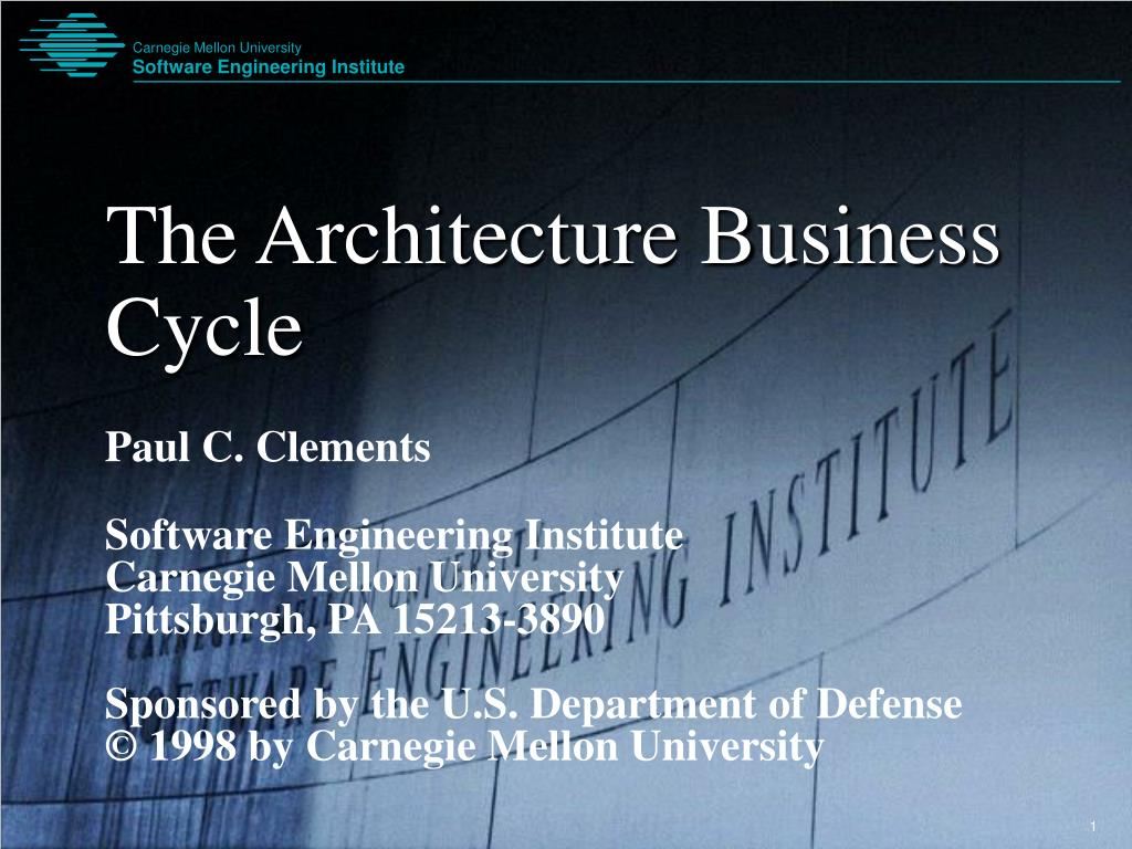 the architecture business cycle l.