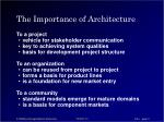 the importance of architecture