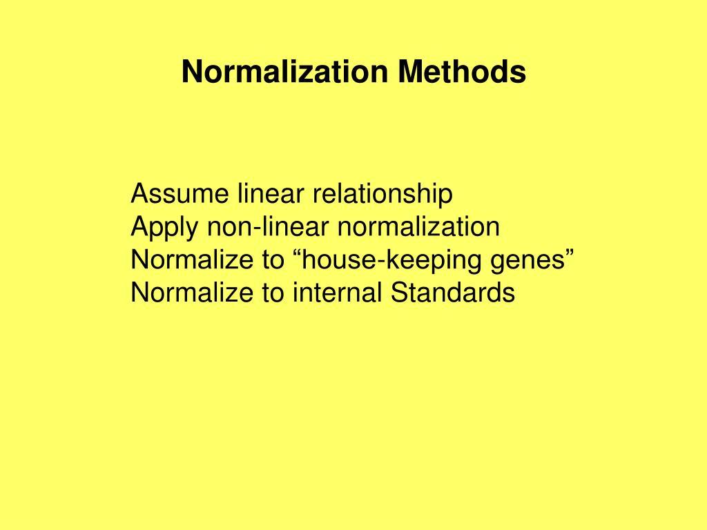 Normalization Methods