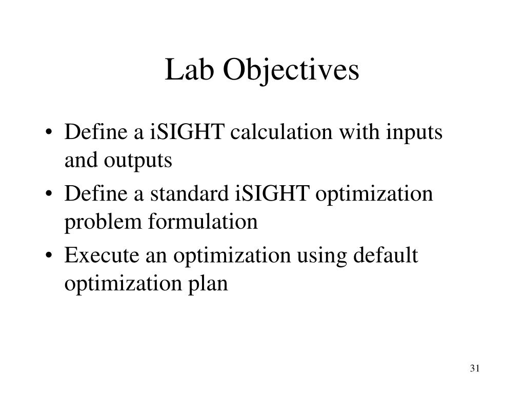 Lab Objectives