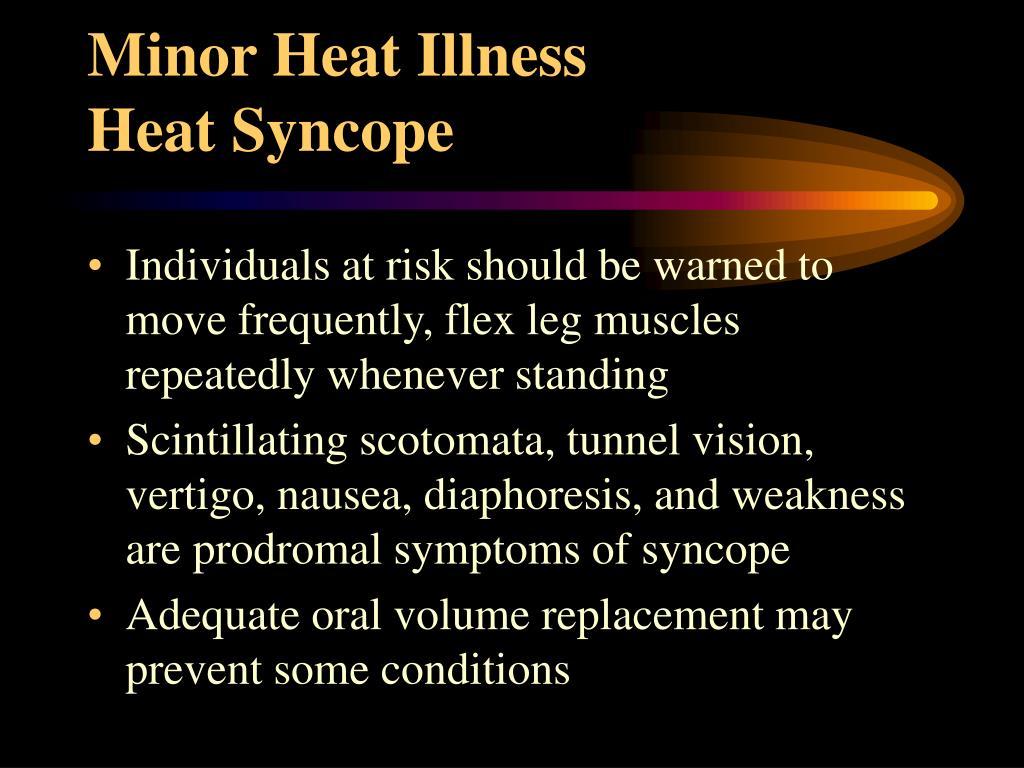 Minor Heat Illness