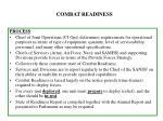 combat readiness