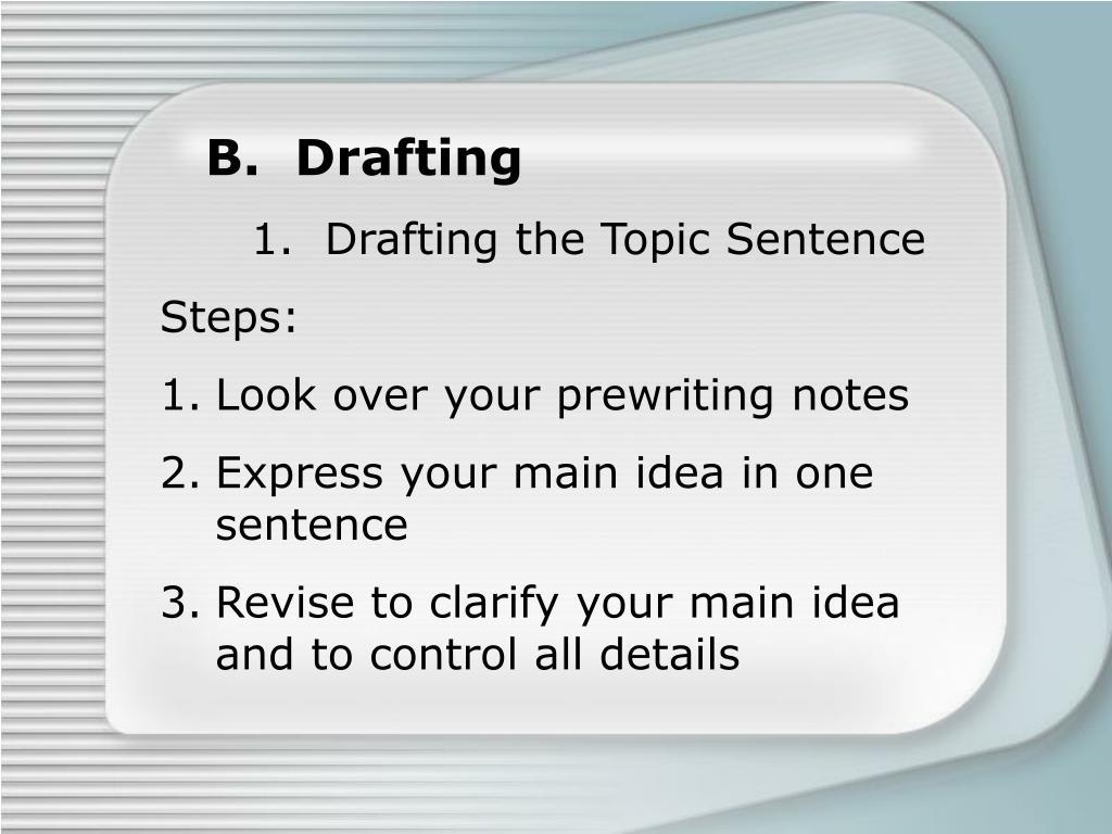 B.  Drafting