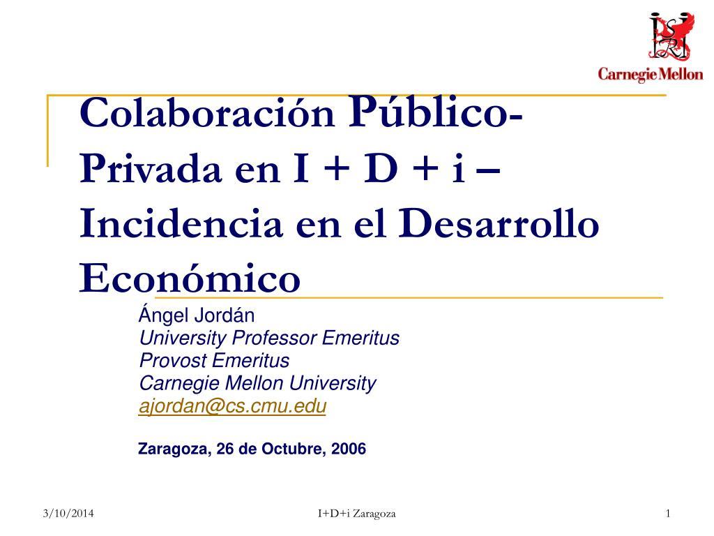 colaboraci n p blico privada en i d i incidencia en el desarrollo econ mico l.