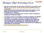 michigan high technology focus