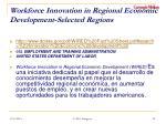 workforce innovation in regional economic development selected regions