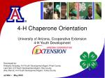 4 h chaperone orientation university of arizona cooperative extension 4 h youth development