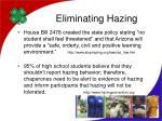 eliminating hazing