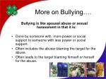 more on bullying
