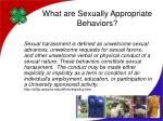 what are sexually appropriate behaviors