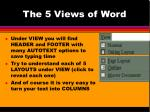 the 5 views of word