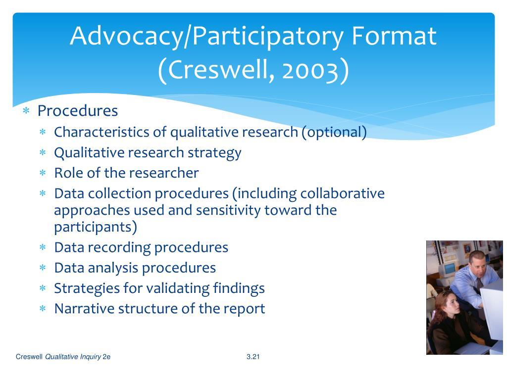 Advocacy/Participatory Format
