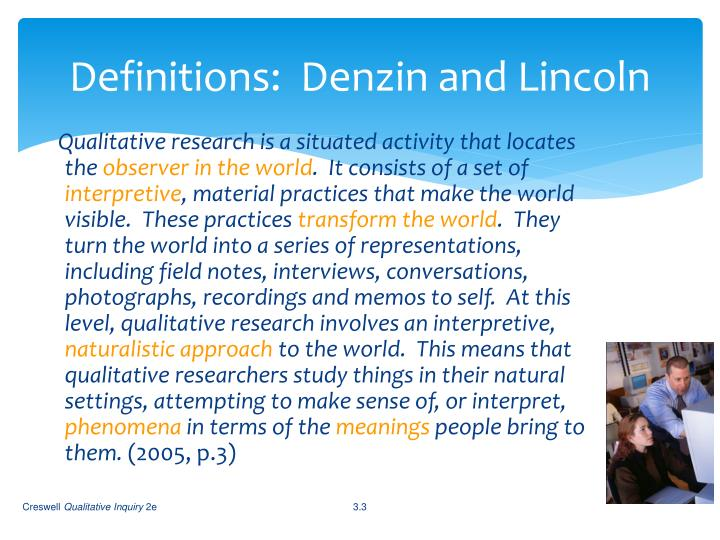 Definitions denzin and lincoln