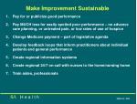 make improvement sustainable