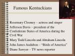 famous kentuckians