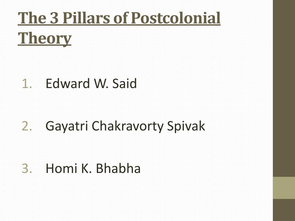 PPT - The Postcolonial Theory and Literature PowerPoint