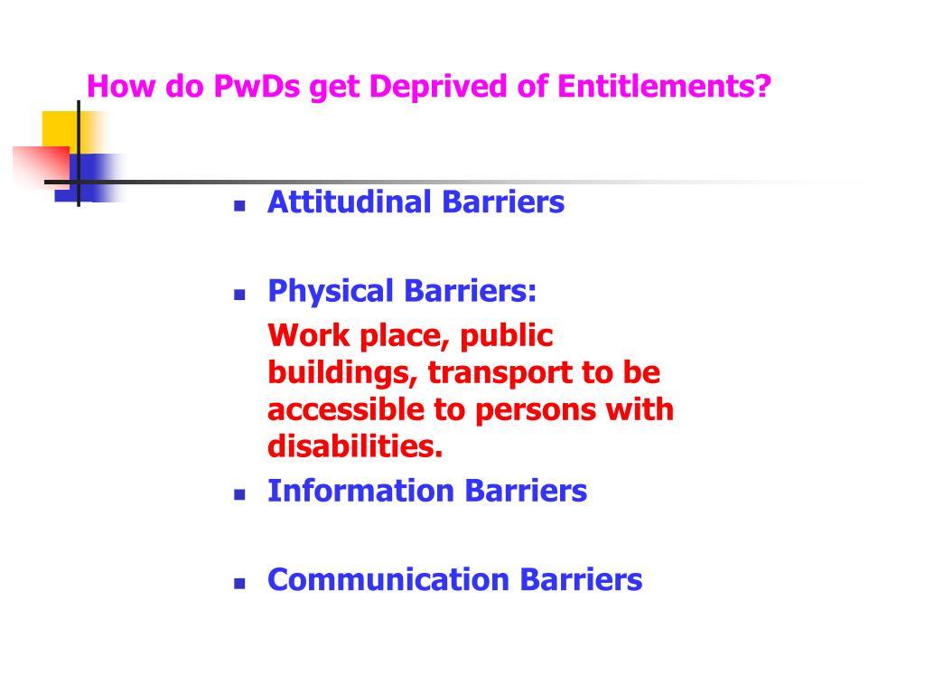 How do PwDs get Deprived of Entitlements?