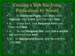 creating a web site using publications by wizard16