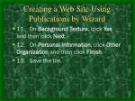 creating a web site using publications by wizard17