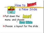 how to a new slide